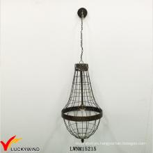 Iluminación interior retro del colgante del metal de la jaula