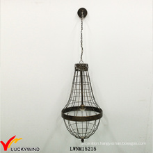 Cage Vintage Retro Indoor Metal Pendant Lighting
