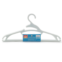 Wet and dry slip plastic hanger