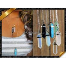 Модное Ожерелье, Смешанное Каменное Ожерелье Ожерелья Подвески с Серебряной Цепи (FN072)