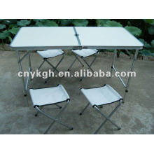 Aluminum foldable table and chairs sets