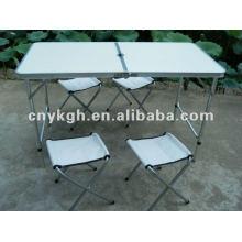 Алюминиевый складной стол и стулья