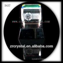 K9 3D laser subsurface image gravée cristal bloc