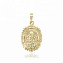 33693 design de mode xuping bijoux en acier inoxydable pendentif Madonna couleur or 14K