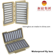 Gray Color Waterproof Fly Fishing Box
