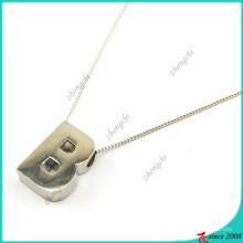 Collar de plata letra B para dama (FN16041810)