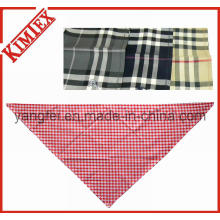 100% Cotton Fashion Triangle Checked Plaid Bandana