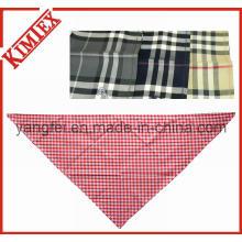 100% algodão triângulo de moda verificado manta bandana