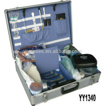 high quality&portable aluminum medical carrying cases with 2 locks