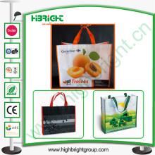 Saco de compras de dobramento recicl não tecido personalizado