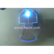 Clear Ricom's Brand Arrows Wired Optical Rocket Mouse