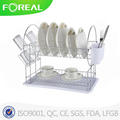 16 Inch Metal Wire Dish Rack with Utensil Holder