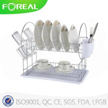 Porte-vaisselle en métal de 16 pouces avec support d'ustensile