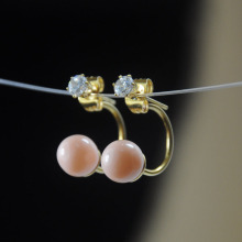 Artificial Pink Best Pearl Earrings