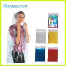 Manteau de pluie PE jetable pas cher (RPE-016A)