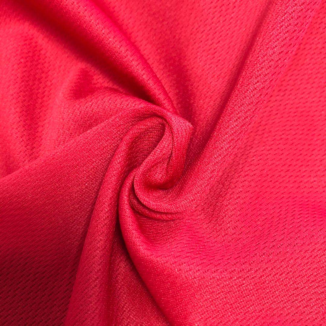 plain dyed Polyester bird eye mesh knitting Fabric