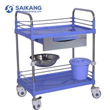 Chariot clinique de médicament médical d'ABS simple de SKR007 d'hôpital