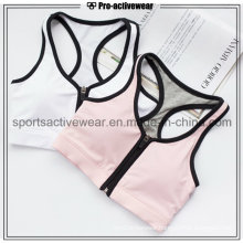 OEM Custom Made Wholesale Sexy Yoga Clothing Zipper Sports Bra