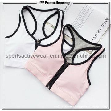 OEM Custom Made Wholesale Sexy Yoga Clothing Zipper Sports Bra