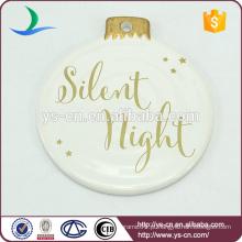 Placa de porcelana branca para decorações de férias
