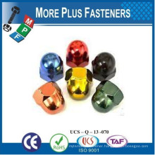 Made in Taiwan Hexagon Domed Cap Nut High Type DIN 1587 Acorn Nut 1987 Stainless Steel A4 Colored Aluminum Alloy