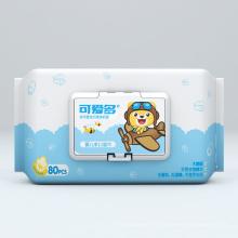 Lingettes humides en coton non parfumées pour bébé