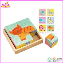 Puzzle de bloc en bois (W14F018)
