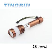 China al por mayor aleación de aluminio super brillante 18650 3.7v batería llevó mini antorcha
