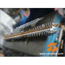 Double vis parallèle et baril pour le baril de vis d'extrusion de PVC