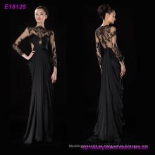 Vestido de fiesta del vestido de noche de las mangas largas de los diseños clásicos al por mayor de la manera