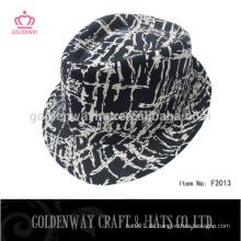 Leopard Fedora Hüte flachen Top Fedora Hut für Großhandel