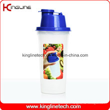 400ml Plastic Protein Shaker Bottle with Filter (KL-7047)