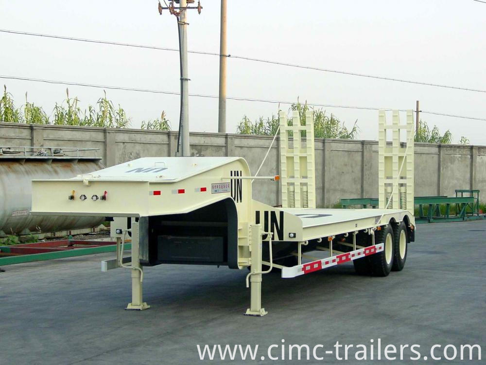 Lf Two Axle Lowbed Semi Trailer