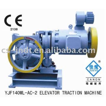 Máquina de tracción YJF140WL-AC-2 engranaje elevador