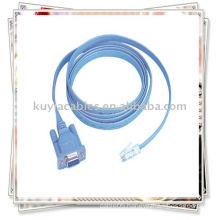 New RJ45 Cable to DB9 cable Flat ribbon cable, with RJ-45 to DB-9 female connector