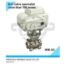 Válvula de bola BSPT motorizada A351 CF8 3/4 pulgadas 1000 wog