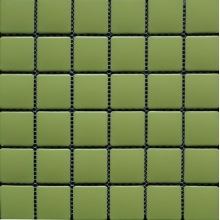 Groen gekleurd vierkant porseleinmozaïek