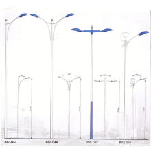Single or Double Arm Galvanized Street Lighting Steel Pole