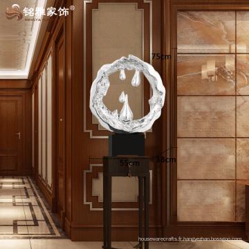 Maison moderne décoration artisanat résine décorative grande statue pour décoration de bureau