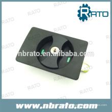 Cerradura de puerta oculta negra ABS