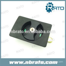 Black ABS cabinet hidden door lock