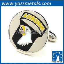 Airborne screaning eagle cufflinks, customize high quality metal crafts