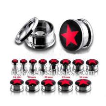 Boucle d'oreille magnétique à boucle d'oreille noir bijoux piercing