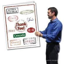 Carte 2 'X 3' avec carte de remerciement géante de la langue nationale de l'enveloppe, cartes de correspondance
