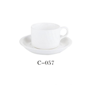 Porcelain White Cup and Saucer