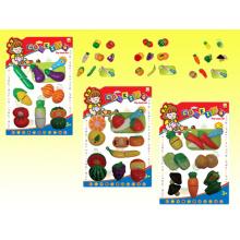 Девочка притворяется играть набор фрукты вырежьте детские игрушки (H3119194)