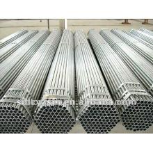 BS 1387 Q195-Q345 St37 2.5 polegadas ponta rosqueada galvanizada Erw soldada tubos de aço suaves