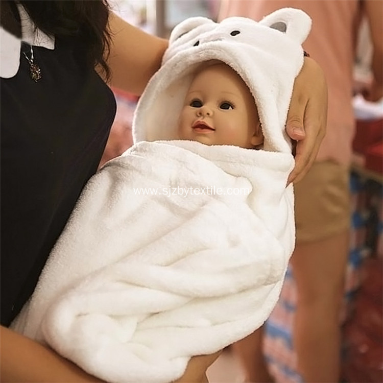 Soft White Panda 100% Bamboo Baby Hooded Towel