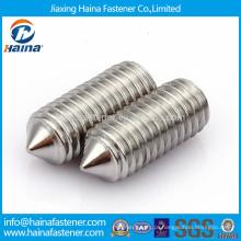 Parafuso de ajuste de scoket hexagonal DIN914 em aço inoxidável com ponto de cone