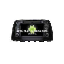 ANROID 4.4, dvd de voiture avec Bluetooth, MIRROR-CAST, AIRPLAY, DVR, Jeux, Dual Zone, SWC pour Mazda 6 2014